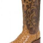 Justin Cognac Ostrich Mens Cowboy Boots