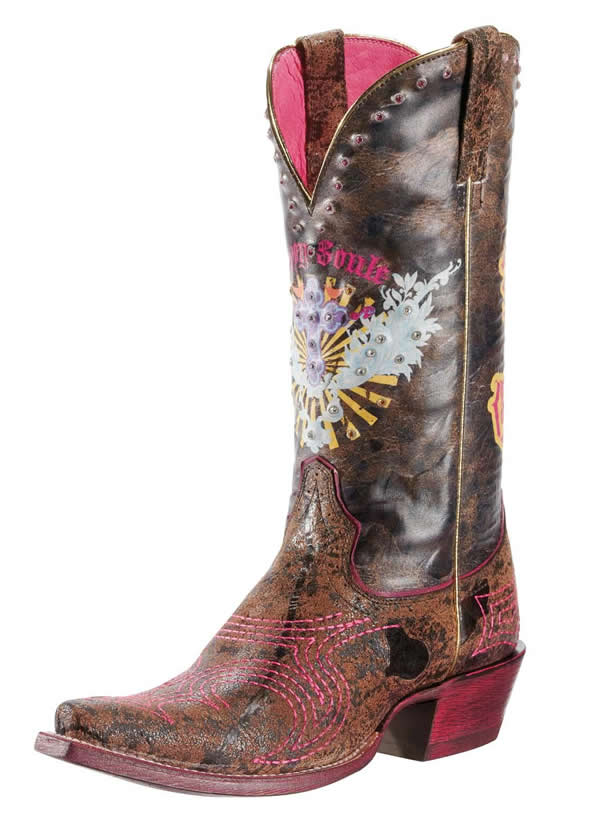 ariat womens pink cowgirl boots
