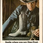 Vintage Dan Post Boots Playboy Ad 1981