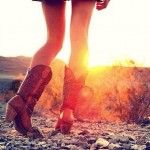 Cowboy Boot Sunrise