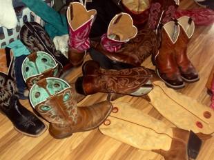 cowboy boots closet