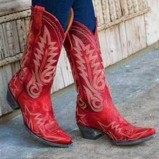 sexy red cowgirl boots