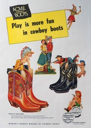 play is more fun in cowboy boots