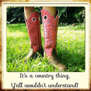 its a country thing. cowboy boots