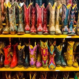 gorgeous colorful cowboy boots