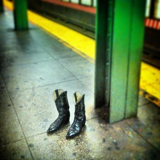 cowboy boots left behind