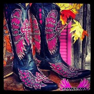pink womens cowboy boots