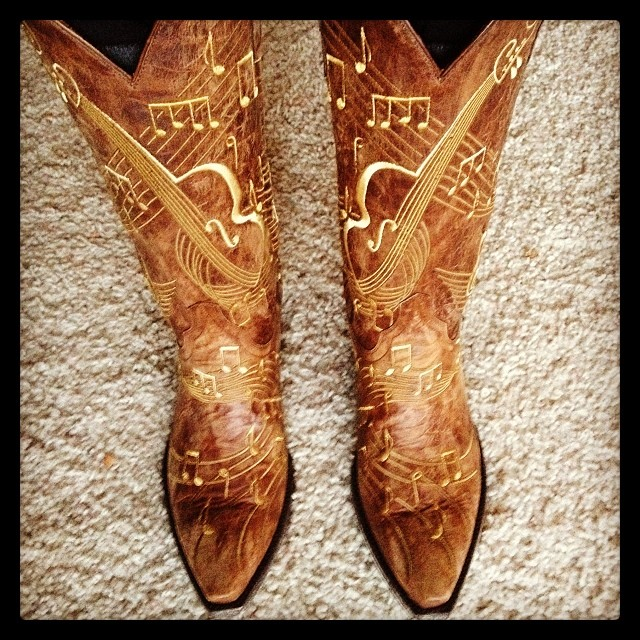 music themed cowboy boots
