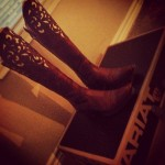Ariat Cowgirl Boots. WHOA