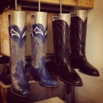 New Cowboy Boots on Trees