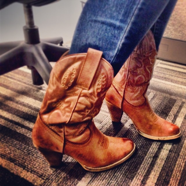 not really cowboy boots