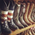 USA America Red White and Blue Cowboy Boots