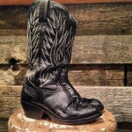 Vintage Black Women's Cowboy Boots