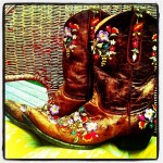Beautiful Cowgirl Boots with Flowers