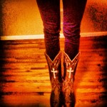 Dan Post Cowgirl Boots with Cross