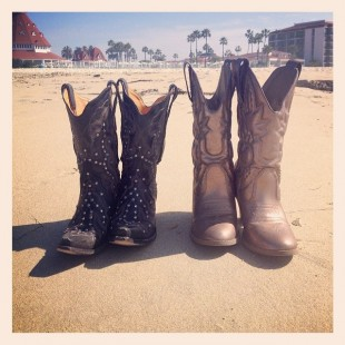 his and her cowboy boots in california