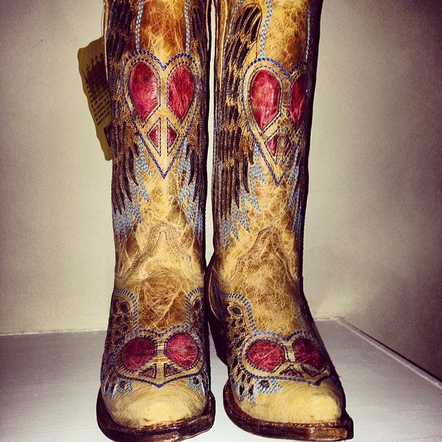 Peace & Heart Cowgirl Boots