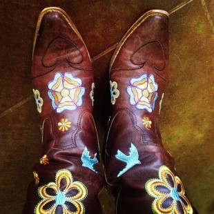 flower my cowgirl boots