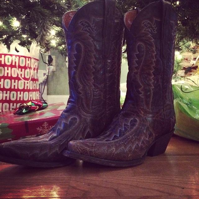 cowboy boot xmas