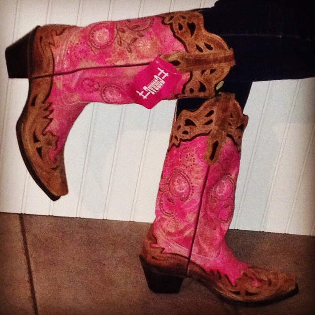 pink corral cowgirl boots