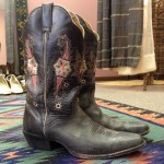 well loved vintage cowboy boots