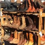 Vintage cowboy boots, flea market finds