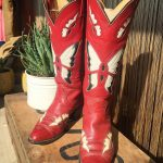 Tony Lama Red Butterfly Boots