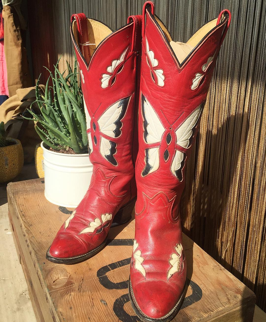 tony-lama-red-butterfly-inlay-boots