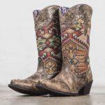 Aztek print cowboy boots