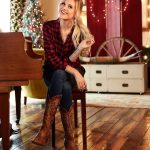 Kelsea Ballerini cowboy boots + flannel