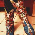 Beautiful skeleton mariachi band cowboy boots