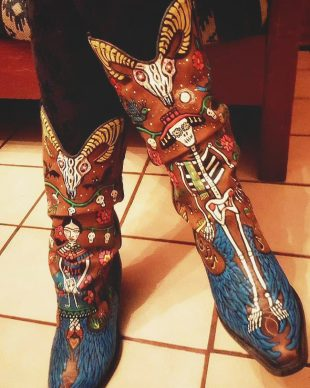 skeleton mariachi band cowboy boots