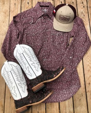 nice cowboy boots and western men's outfit from texas boot company